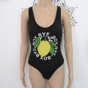 Beyonce Lemonade Boy Bye Black Bodysuit M